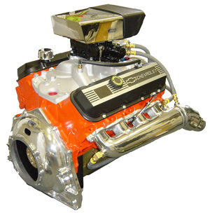 Chevrolet 454 V drive engine with Glenwood Marine parts